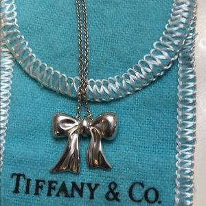 Tiffany bow necklace vintage 1998